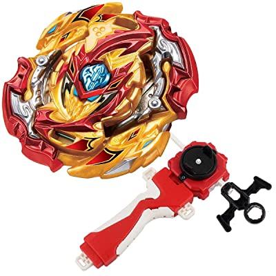 Bey Burst Evolution Turbo Battling Tops Blade God Bey with Lr Launcher Grip Starter Set B-149 Booster Lord Spriggan/Spryzen Attack Gyro Bay Battle Kits Gaming Tops Novelty Spinning Toy Gift for Boys: Toys & Games