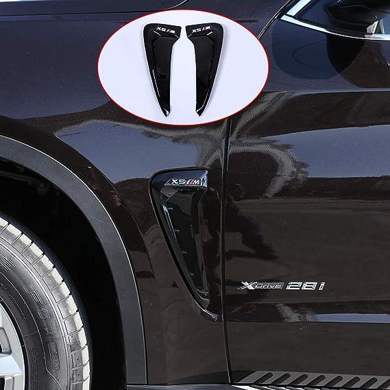 Amazon.com: YUECHI Car Styling for BMW Xdrive Emblem X5 F15 X5M F85 2014 2015 2016 2017 2018 Shark Gills Side Fender Vent Mesh Decoration 3D Stickers Grille Auto Exterior Accessories (Black+M): Automotive