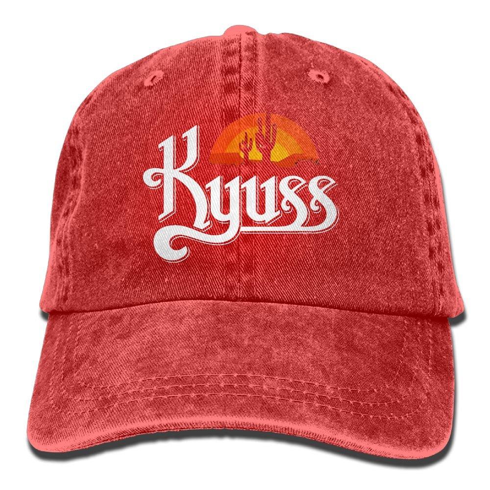 Ulongpoq Unisex Kyuss Cotton Baseball Cap Washed Dyed Ball Dad Cap Hat Adjustable Ash