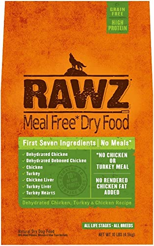 Rawz Meal Free Dry Dog Food Turkey Chicken
