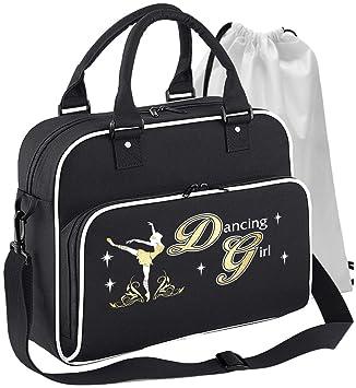 Dancing Girl Flowers Personalised Custom Dance HOLDALL Gym Bag in 7 Great Colours MusicaliTee Ballet Dancer