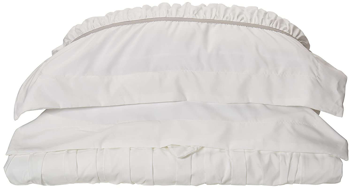 Chic home betsy 3 piece ruffled duvet cover set king white
