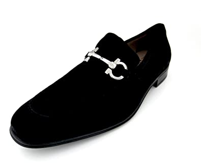 2a74fdd5045 Salvatore Ferragamo Flori 2 Mens Black Suede Loafers Shoes Made in Italy (11  EE)