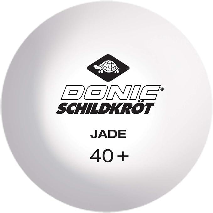 Donic-Schildkröt Pelotas de Tenis de Mesa Jade, Calidad Poly 40+ ...