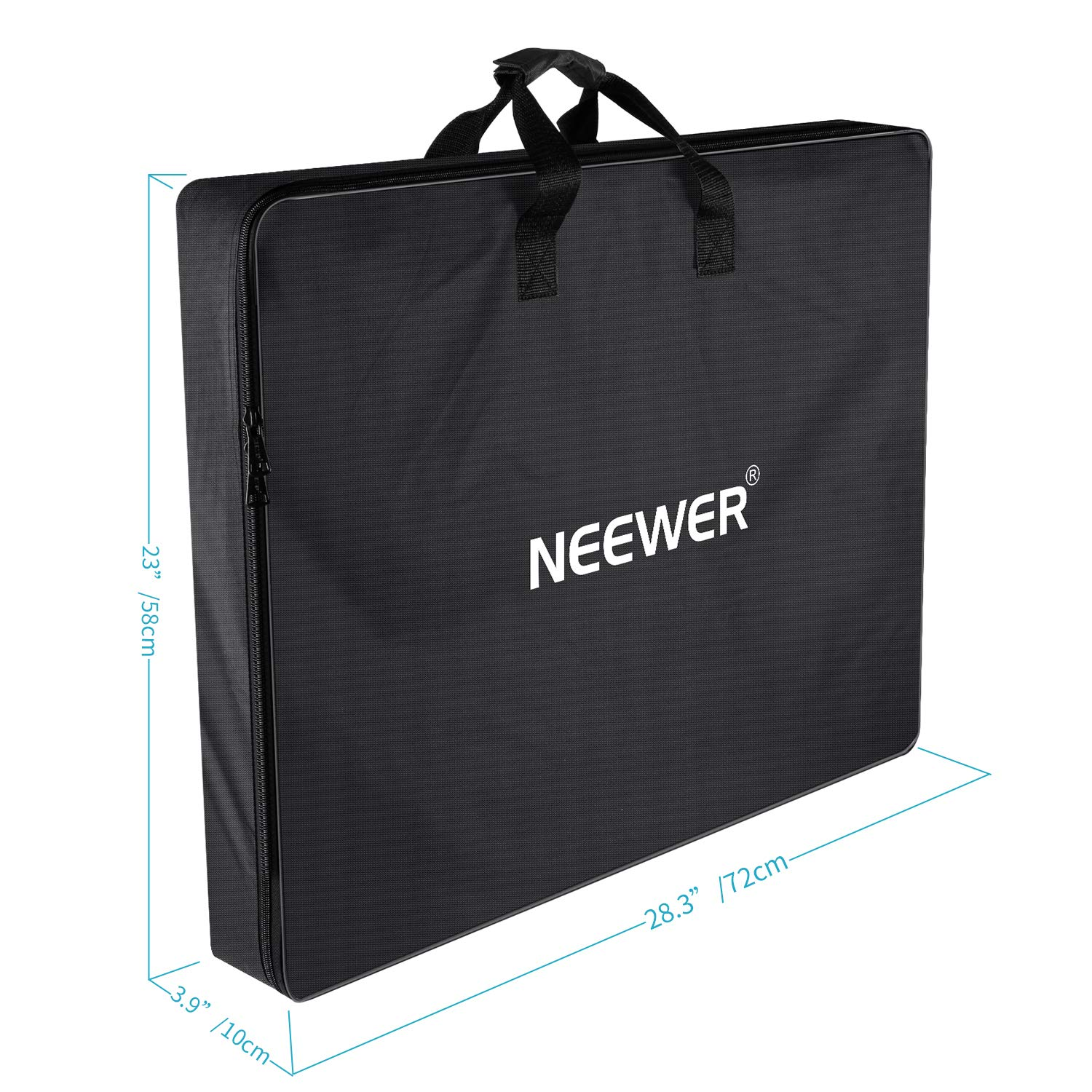 Neewer Enlarged Carrying Bag for 18 inches Ring Light, Light Stand, Accessories - 29.5x23.6 inches/75x60 Centimeters Protective Case, Durable Nylon,Light Weight (Black) by Neewer (Image #3)