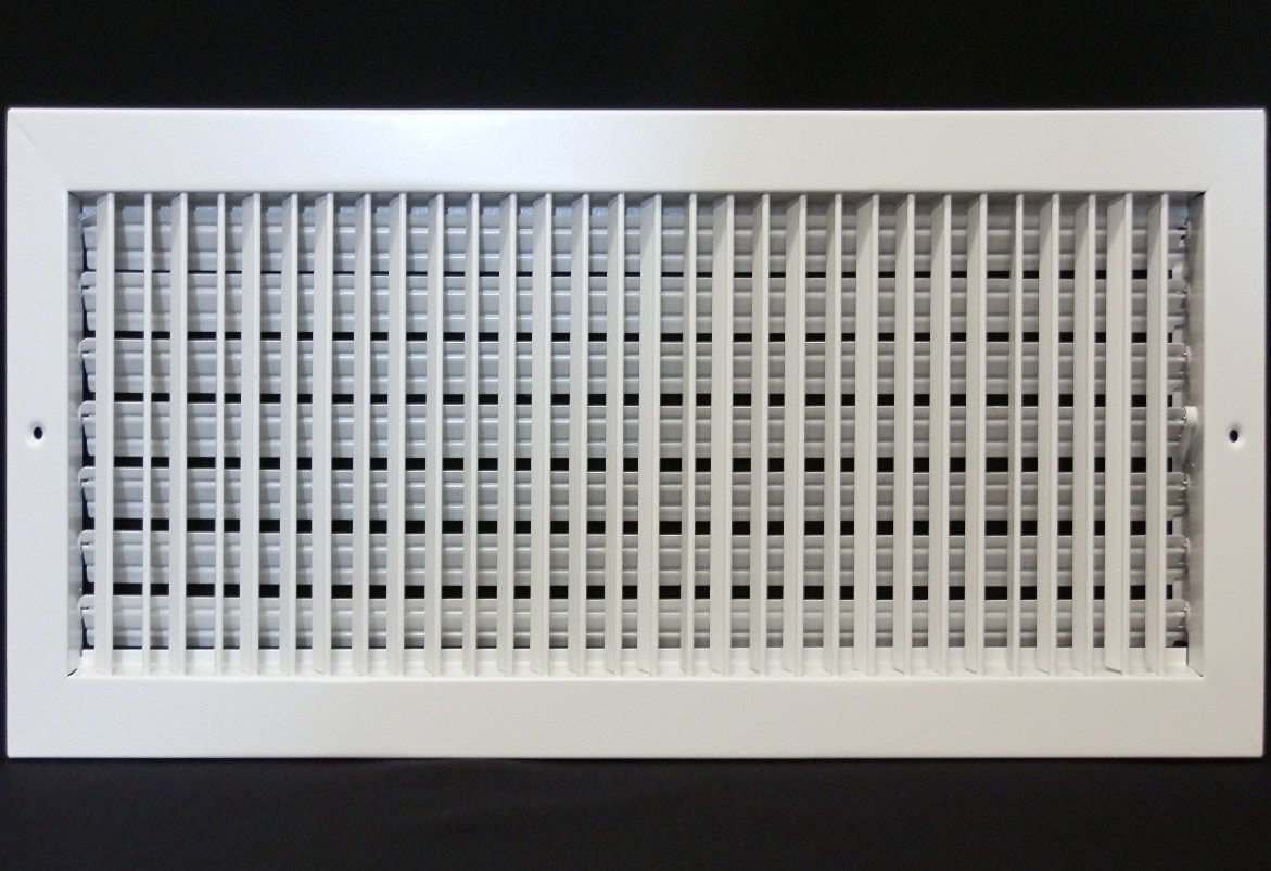 20'' X 14'' ADJUSTABLE AIR SUPPLY DIFFUSER - HVAC Vent Duct Cover Sidewall or Cieling - Grille Register - High Airflow - White
