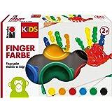 Marabu 030300000085 Barn Fingerfärg Set med 6 x 35 ml Färger