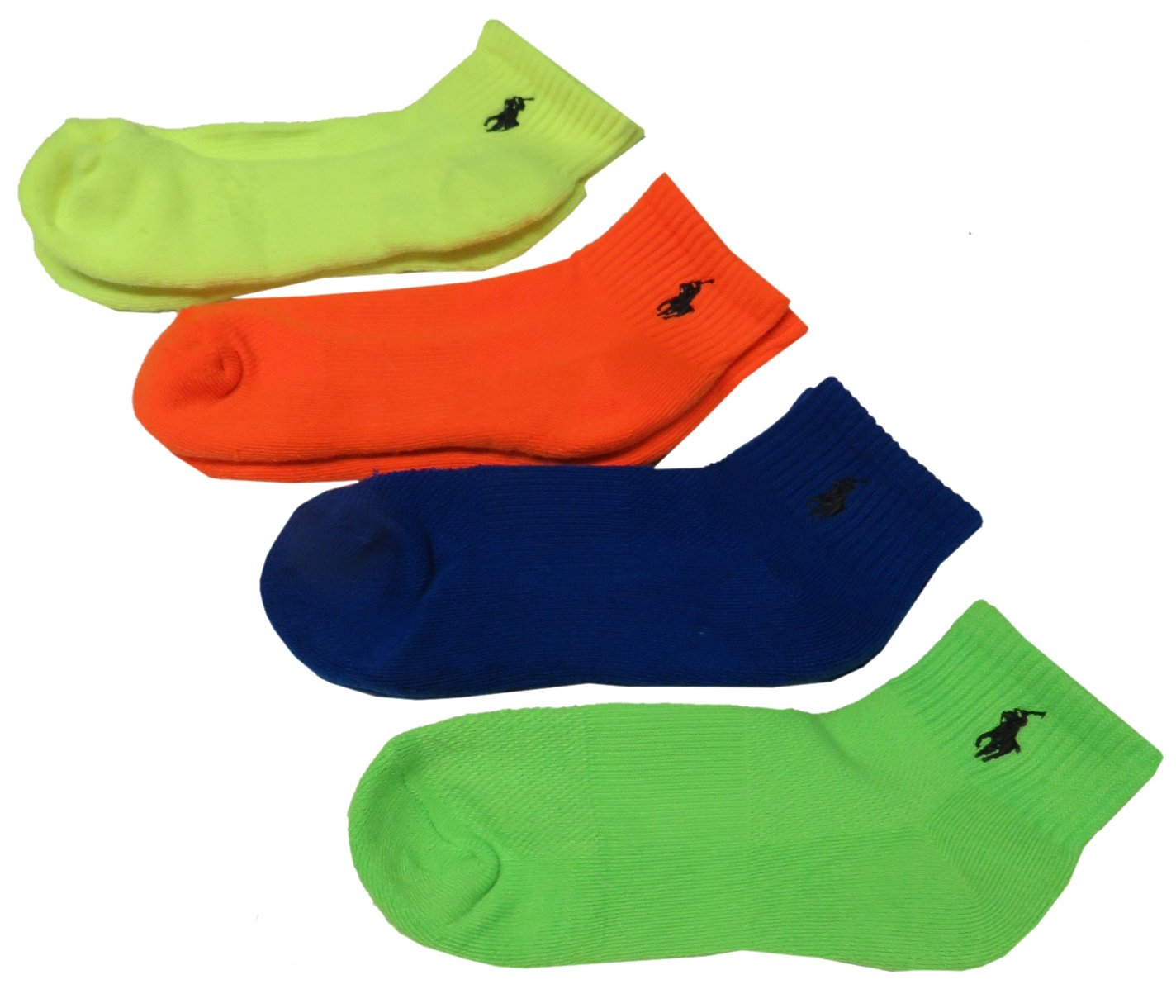 Polo Ralph Lauren Boy's Socks, 4-Pack No-Show Liner Socks Size 4-7