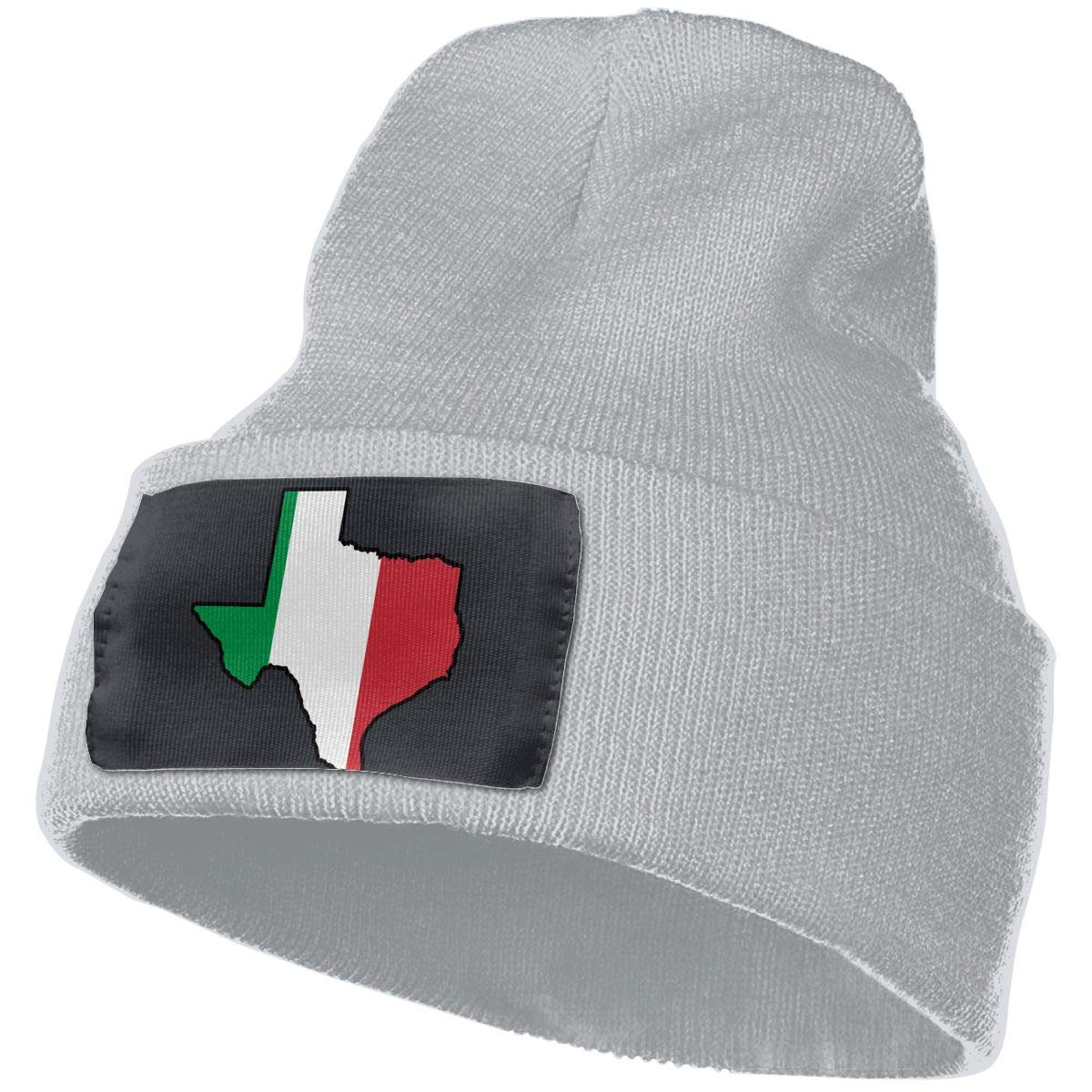 100/% Acrylic Skull Cap MXMAOM9MX Italian Flag Texas Map Warm Knitting Hat Mens Womens