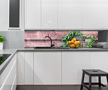 Küchenrückwand Wand mit Kletterpflanze Nischenrückwand Spritzschutz ...