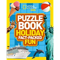 Puzzle Book Holiday: Brain-tickling quizzes, sudokus, crosswords and wordsearches (National Geographic Kids Puzzle Books)