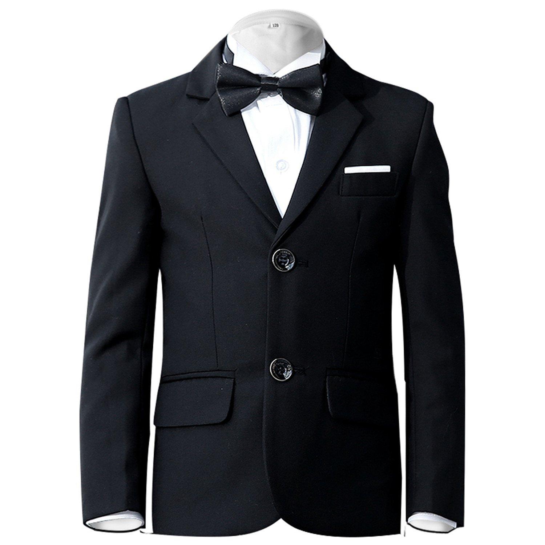 11043d9eb5a Amazon.com  Yanlu Boy s Tuxedos Toddler Formal Suits Set Kids Blue Black  Slim Fit Suit for Weddings  Clothing