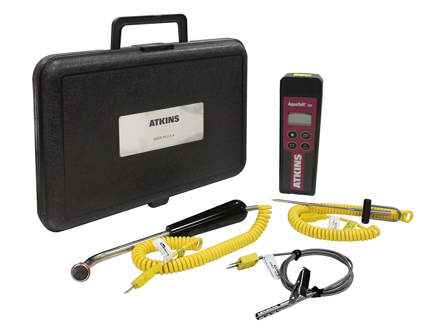 Cooper-Atkins 93970-K AquaTuff Type K Thermocouple Kit with 3 Probes and Hard Case