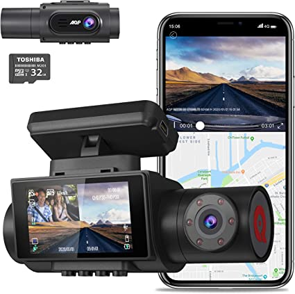 140/° Wide Angle 3 LCD Car Camera Recorder 1080P FHD Front and Rear Dash Cam with Night Version Parking Mode TaoTronics Dual Dash Cams Sony Sensor G-Sensor Wdr
