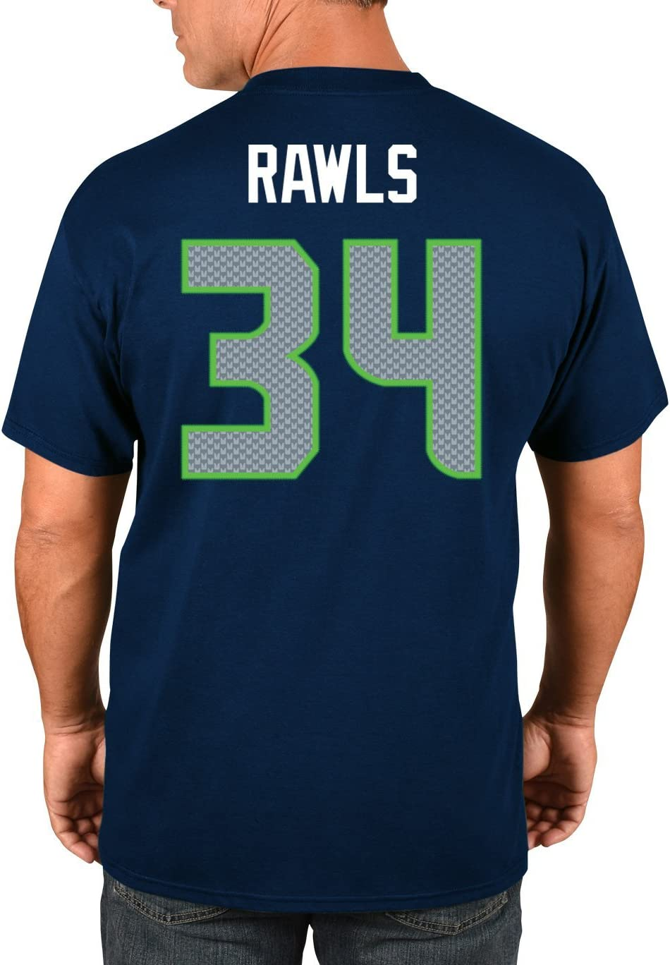Majestic NFL Shirt Seattle Seahawks #34 Thomas Rawls