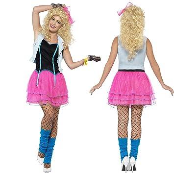 Net Toys 80er Jahre Kostüm Damen Neonkleid S 3638 Popstar