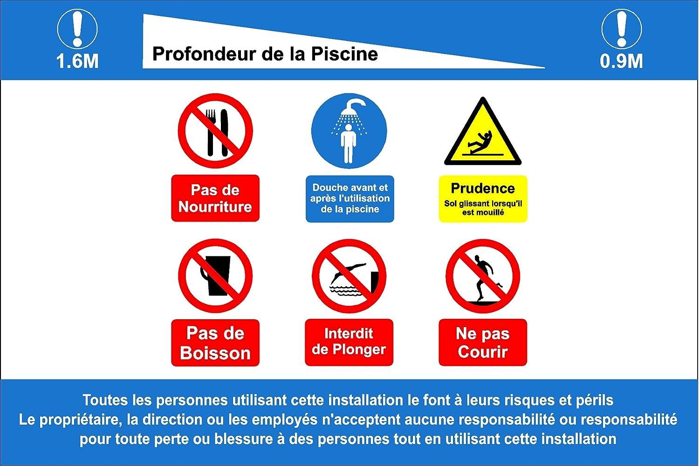 Señal de Reglas y Profundidades para Piscina – sin Buceo, sin ...