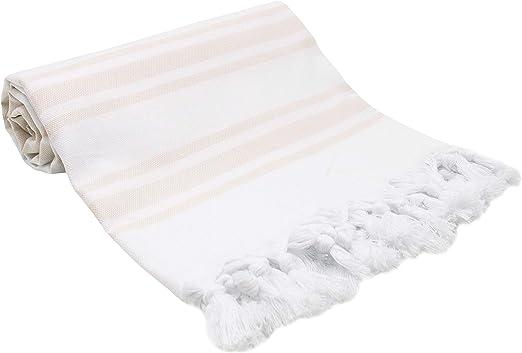 ZOLLNER Toalla Playa Pareo Mujer, 90x170 cm algodón, Beige ...