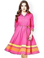 S,B Creation Women's Satin Pink Kurta (Pink_Kurti_Variation_Free Size)