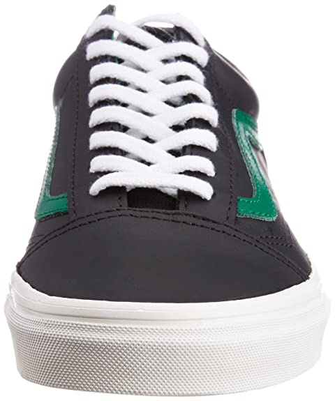 19d3074d6a Vans Men s Old Skool Matte Leather Black and Verdant Green Canvas Sneakers  - 8 UK  Buy Online at Low Prices in India - Amazon.in