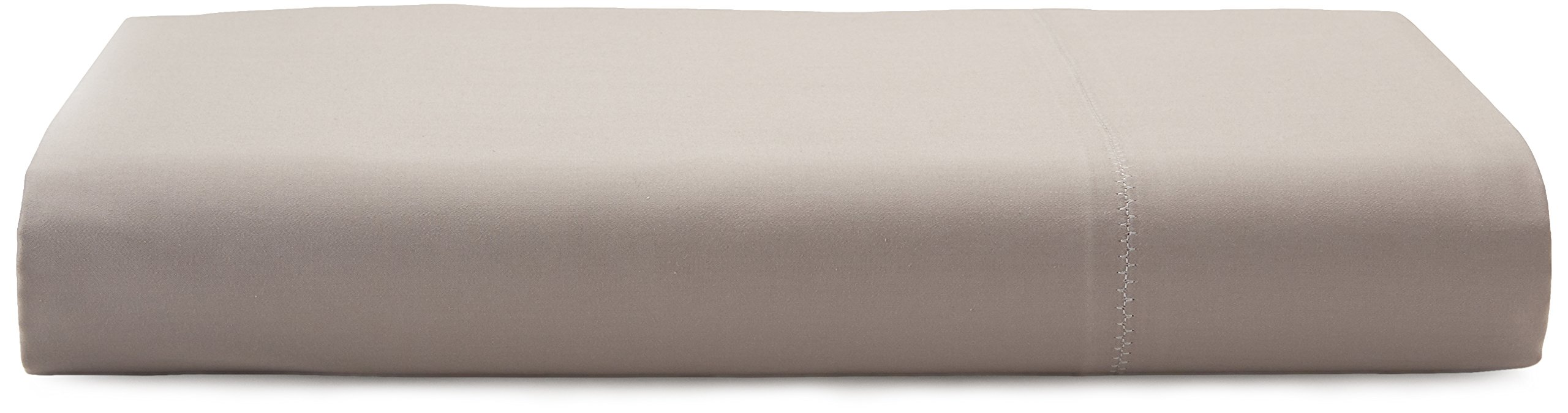 Calvin Klein Home Florence Stitch Flat Sheet, Queen, Dusty Lilac
