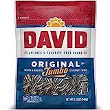 DAVID Roasted and Salted Original Jumbo Sunflower Seeds, Keto Friendly, 5.25 oz, 12 Pack