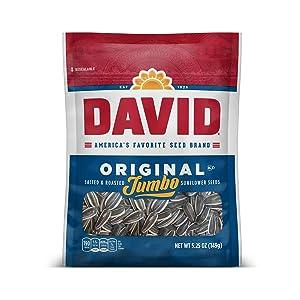 DAVID Roasted and Salted Original Jumbo Sunflower Seeds