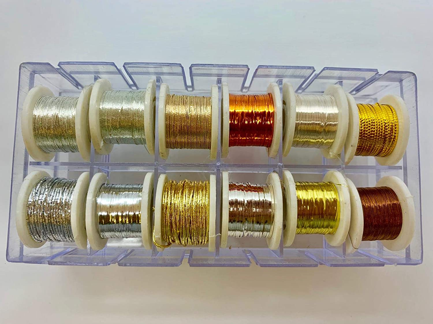 Fly Dressing 12x Spools of Tinsel Fly Fishing Shiny Colours Fly Tying