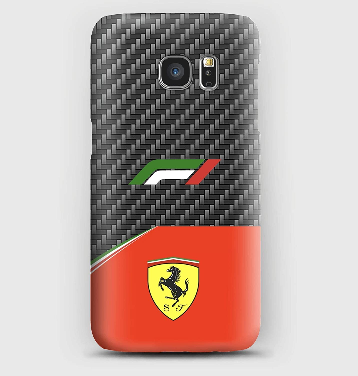 F1 carbon Ferrari Cover Samsung S6, S7, S8, S9, A3, A5, A8, J3, J5, Note, 5,8,9