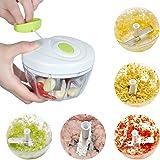 Cool-Shop®Manual Food Chopper, Compact & Powerful Hand Held Vegetable Chopper / Mincer / Blender to Chop Fruits,Vegetables, Herbs, Salad, Pesto, Coleslaw, Puree