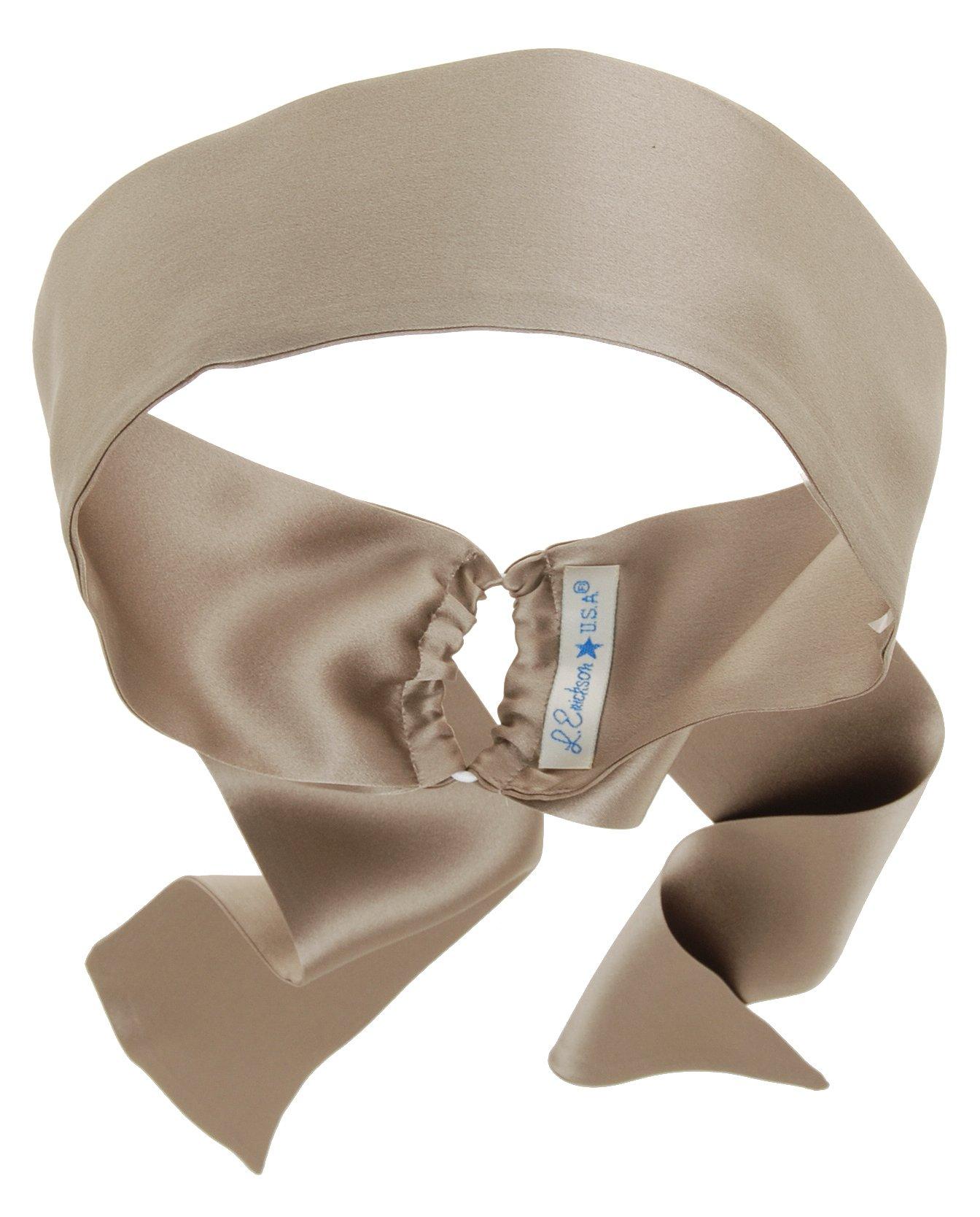 L. Erickson USA Elastic Loop Headband - Silk Charmeuse Thatched