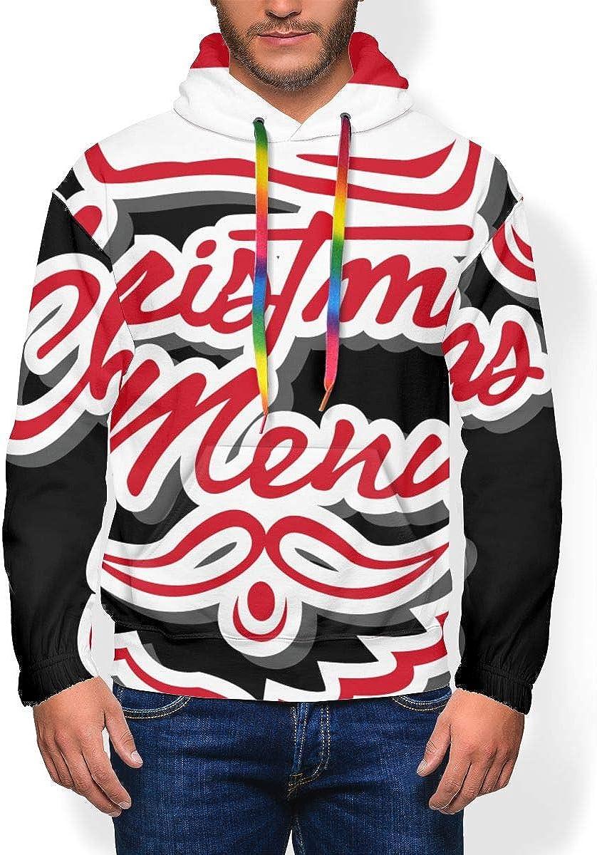 Santa Claus Merry Christmas to You Mens Plus Velvet Padded Hoodie