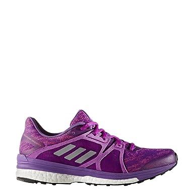 adidas Supernova Sequence 9 Womens Running Shoe 5.5 Purple-Silver Metallic- Shock Pink