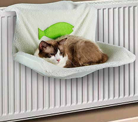 Cutepet Hamaca para Gatos Cama Colgante Estante Asiento Percha para Gato Relajante,White