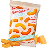Schoolyard Snacks Low Carb Keto Cheese Puffs - Cheddar Cheese - High Protein - All Natural - Gluten & Grain-Free - Healthy Ch