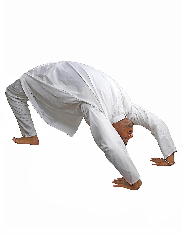 Para hombre ropa de yoga algodón kurta pijama Chest: Amazon.es: Ropa y accesorios