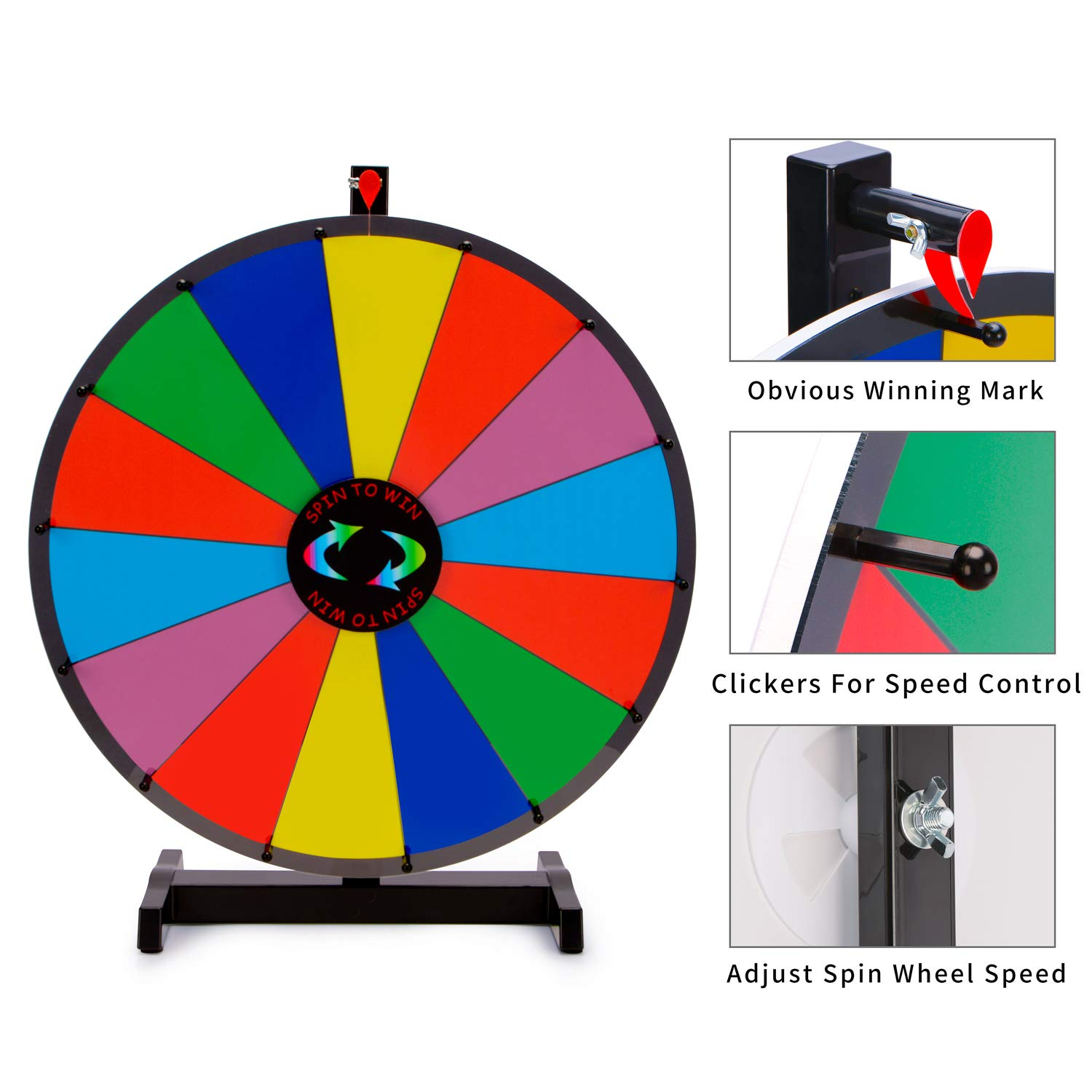 Amazoncom T Sign 24 Heavy Duty Tabletop Spinning Prize Wheel 14