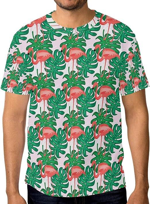 Camiseta de manga corta para hombre, diseño de flamenco ...