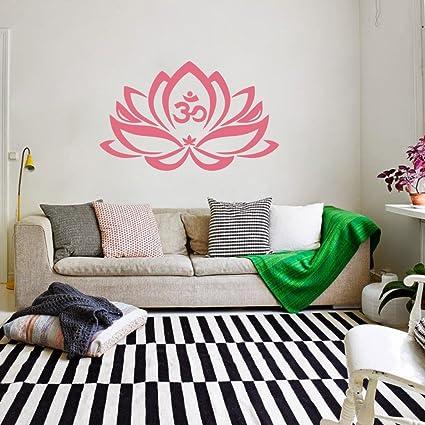 Amazon Com Mairgwall Yoga Studio Decor Lotus Flower Decal Home