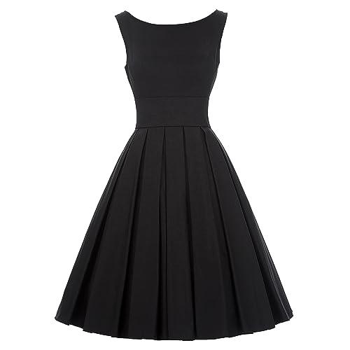 Vintage Black Dresses for Women