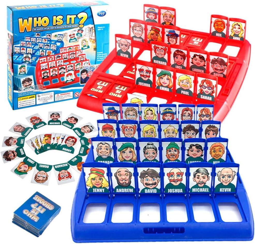 KAIXIN Junta Plegable de plástico de Juguete Juego ¿quién es el Juego de adivinanzas Juguete Educativo de los niños primarios y Secundarios interactivos para múltiples Mesa de Juego Juguetes