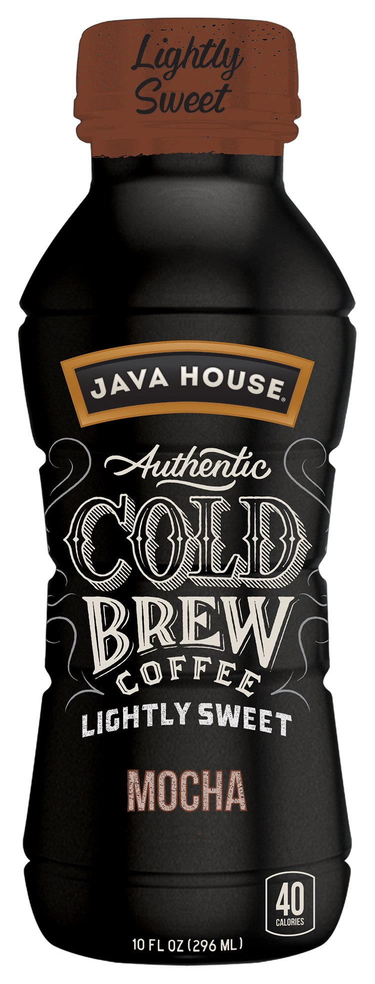 JAVA HOUSE Authentic Cold Brew Lightly Sweetened Mocha 10 Ounce (12 Count)