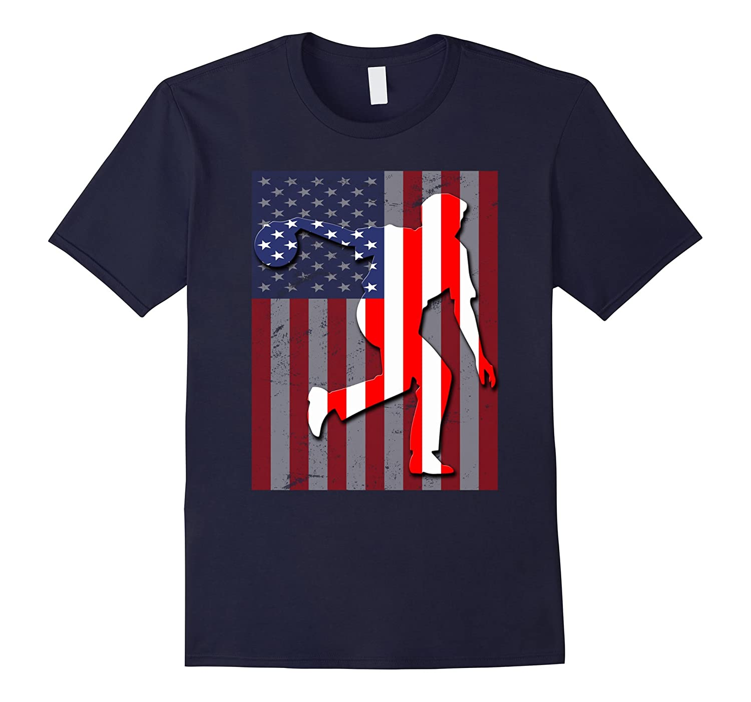 Bowling American Flag T-Shirt Special Gift-Art