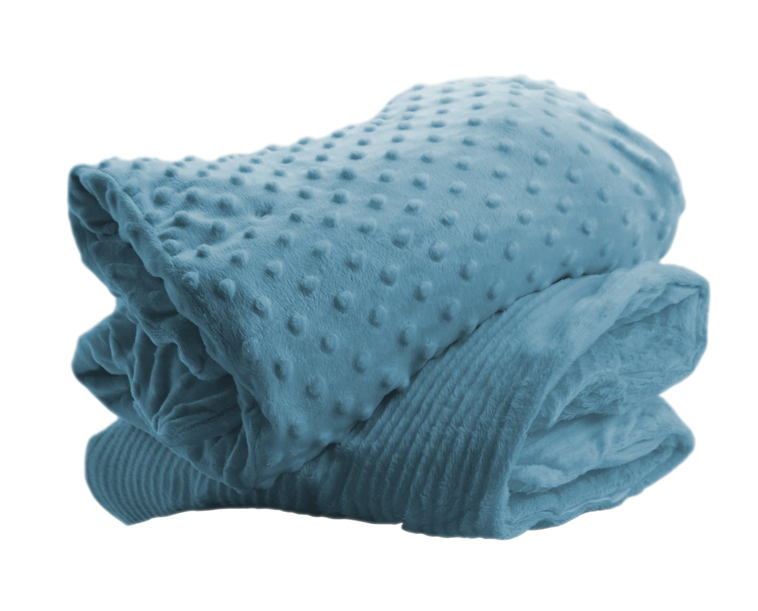 Sensory Blanket - Weighted - 4 Lbs By DH Beacon: Non-Drug Alzheimer Therapy for Dementia Patients, Calming & Relaxing For Depression, Autism, Anxiety & ADHD, Soft, Warm & Comfortable, Machine Washable