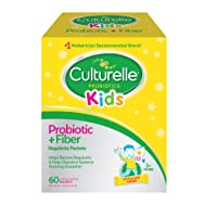 Culturelle Kids Regularity Probiotic & Fiber Dietary Supplement - Helps Restore Regularity & Keeps Kids' Digestive Systems Running Smoothly* - Works Naturally with Child's Body* - 60 Single Packets