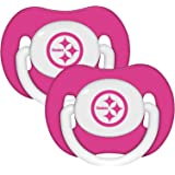 Pittsburgh Steelers 2-pack Pink Infant Pacifier Set - 2014 NFL Baby Girl Pacifiers