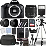 Canon EOS 2000D / Rebel T7 Digital SLR Camera Body w/Canon EF-S 18-55mm f/3.5-5.6 is STM Lens 3 Lens DSLR Kit Bundled…