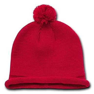 608388e9ceb Image Unavailable. Image not available for. Color  Decky Orgianl Solid Roll  Up Beanies ...