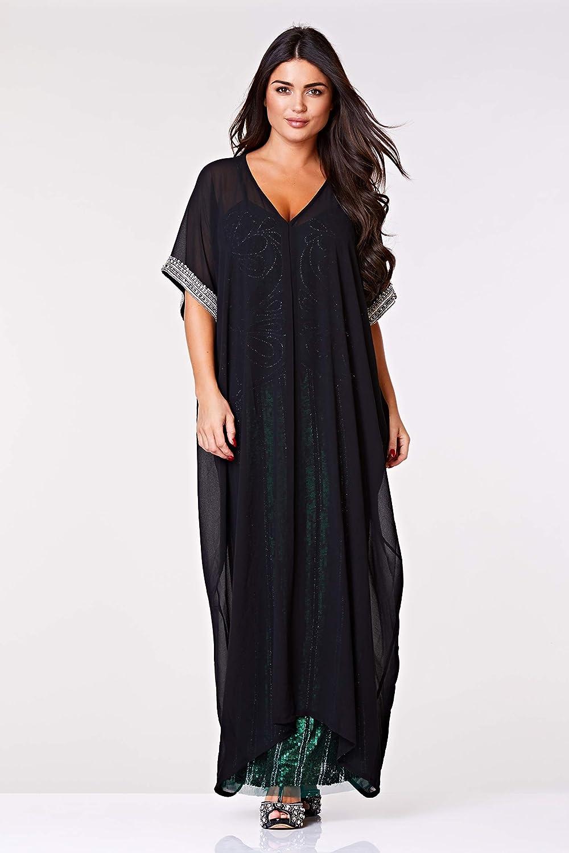 70s Dresses – Disco Dress, Hippie Dress, Wrap Dress Gatsbylady Dee Long Kaftan in Black £59.00 AT vintagedancer.com