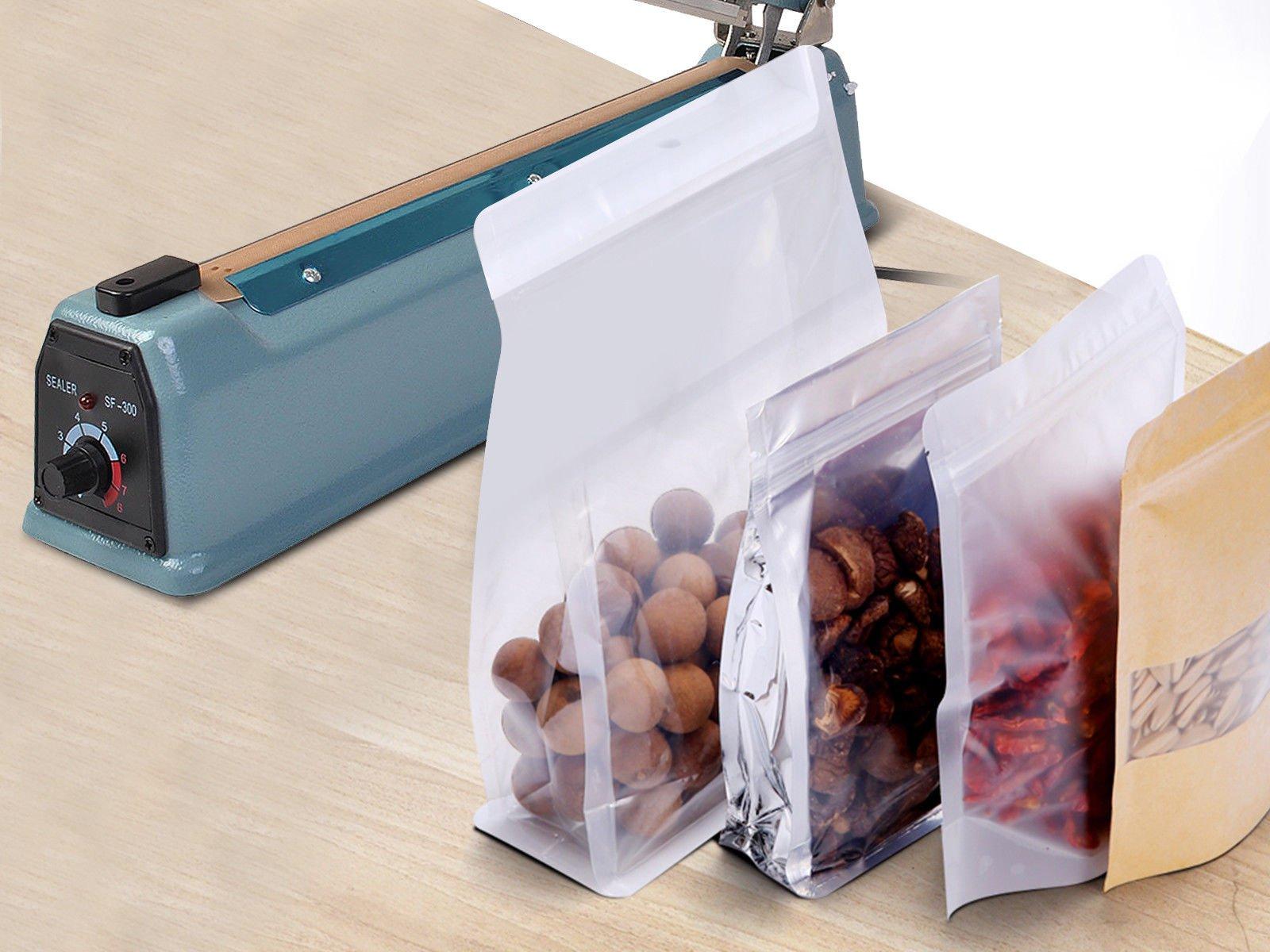 Super buy 12'' Heat Sealing Hand Impulse Sealer Machine Poly Free Element Grip& Teflon by Goplus (Image #2)